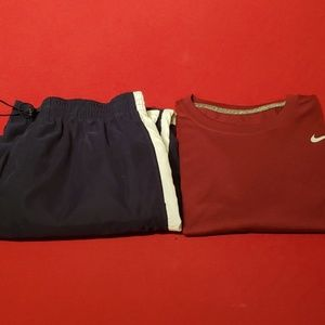 Lot of 2 Mens Nike L cargo pants and XL Nike Tee